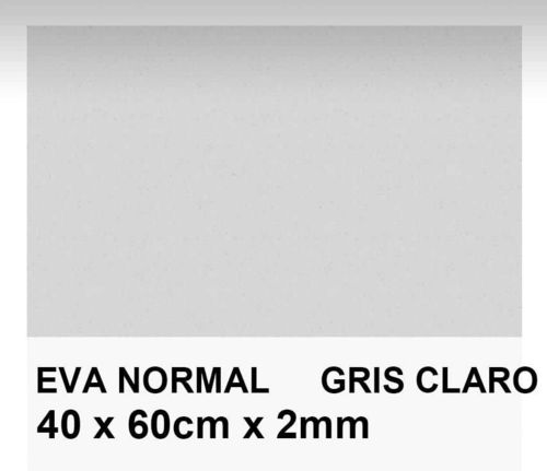GOMA EVA COLOR GRIS 40x60 cm. 2mm grossor. 1unid.