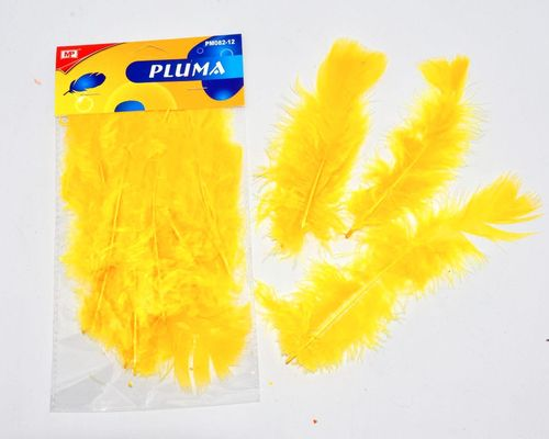 PLUMA COLOR AMARILLO