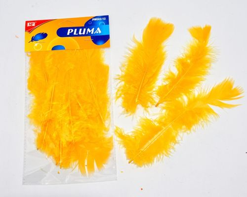 PLUMA COLOR AMARILLO OSCURO