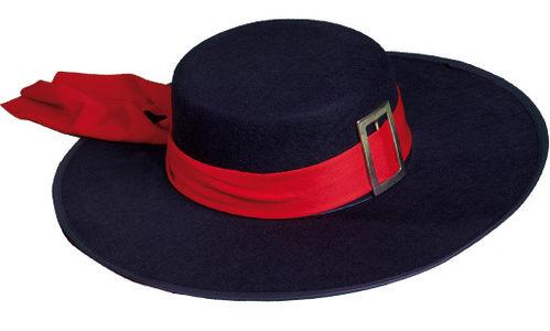 Sombrero Mosquetero Fieltro Negro c2f8d605aef