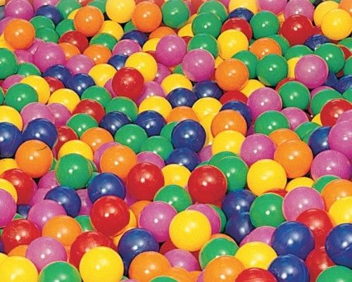 100 Pelotas INTEX Ø65mm llenado de Piscina 6 colores