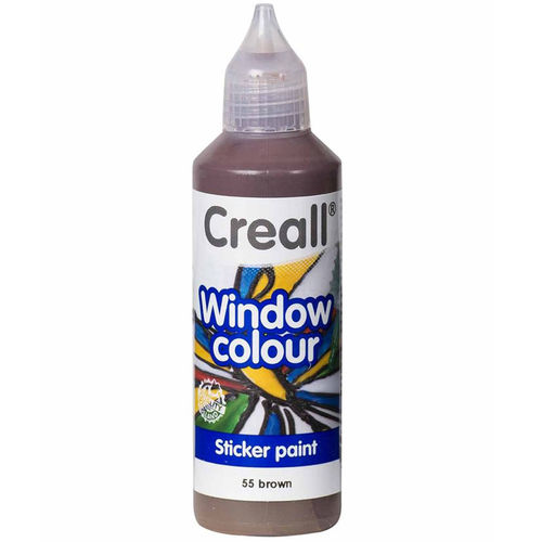Pintura Window Colour Creall 80ml Marrón