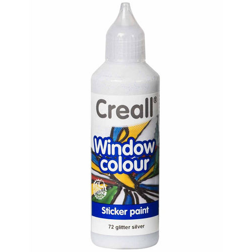 Pintura Window Colour Creall 80ml Plata