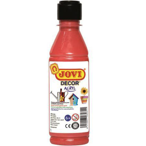 Pintura Decor Acryl Jovi 250ml Rojo