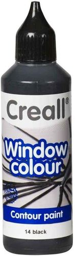 Pintura Window Colour Creall 80ml Negro