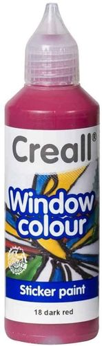Pintura Window Colour Creall 80ml Rojo